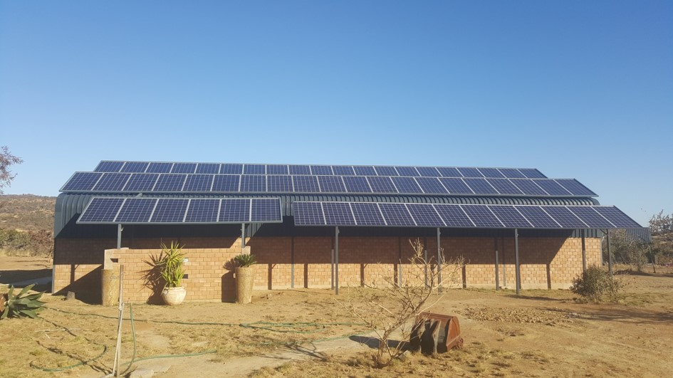 Off-Grid Domestic house Farm Outside Thabazimbi 10000 va Victron Inverters 46 x 250w Solarworld Panels (70 kw/h per day)