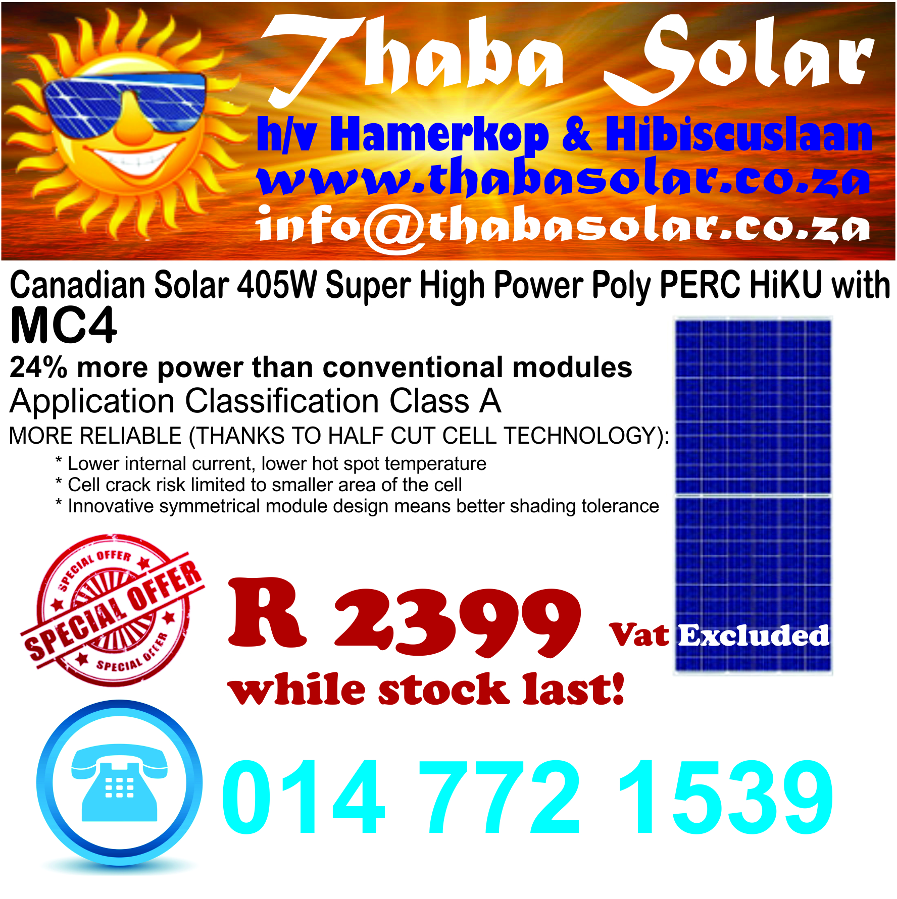Special Offer While Stock Last!! - Thaba Solar